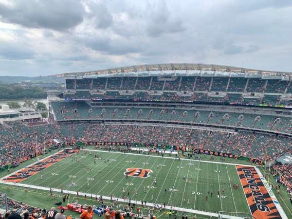 Paul Brown Stadium, sección: 338, fila: 24, asiento: 5