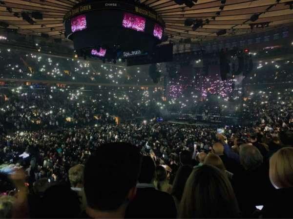 Madison Square Garden, sección: 106, fila: 17, asiento: 6
