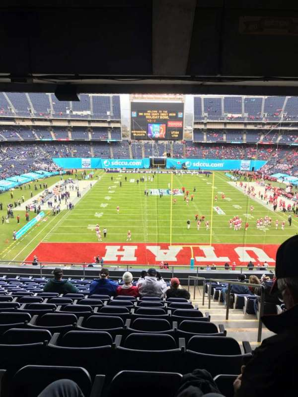 SDCCU Stadium, sección: L20, fila: 15, asiento: 19