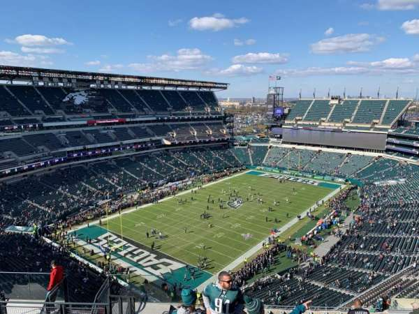 Lincoln Financial Field, sección: 218, fila: 17, asiento: 14