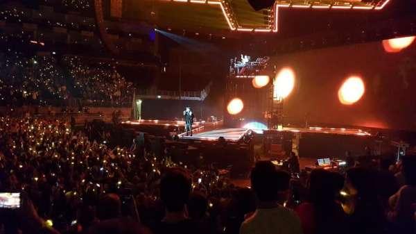 The O2 Arena, sección: 112, fila: H, asiento: 365