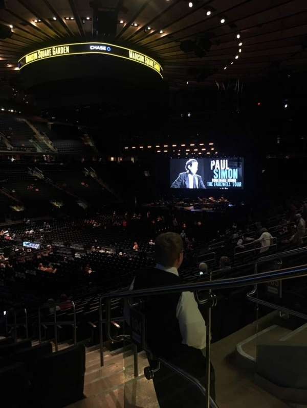 Madison Square Garden, sección: 104, fila: 20, asiento: 22