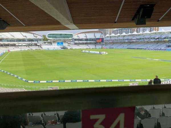 Lord's Cricket Ground, sección: Warner Stand, fila: Terrace Level 1, asiento: 34
