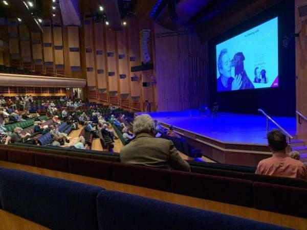 Barbican Theatre, sección: Minus 1, fila: P, asiento: 1