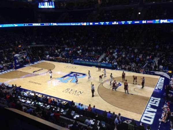 Ryan Center, sección: 310, fila: A, asiento: 4