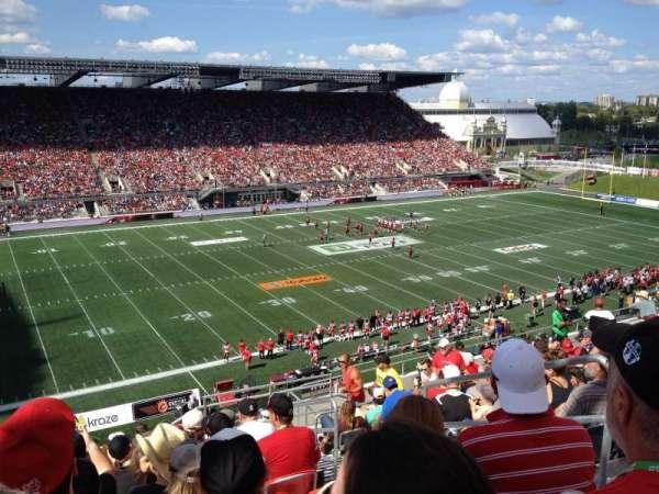 TD Place Stadium, sección: WW, fila: 15, asiento: 3
