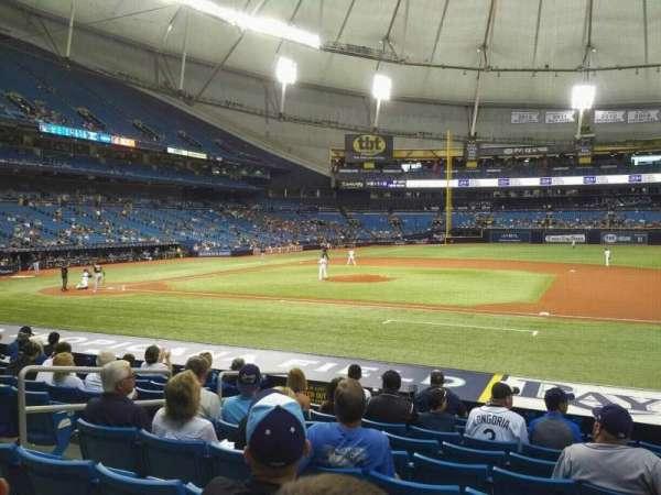 Tropicana Field, sección: 118, fila: U, asiento: 7