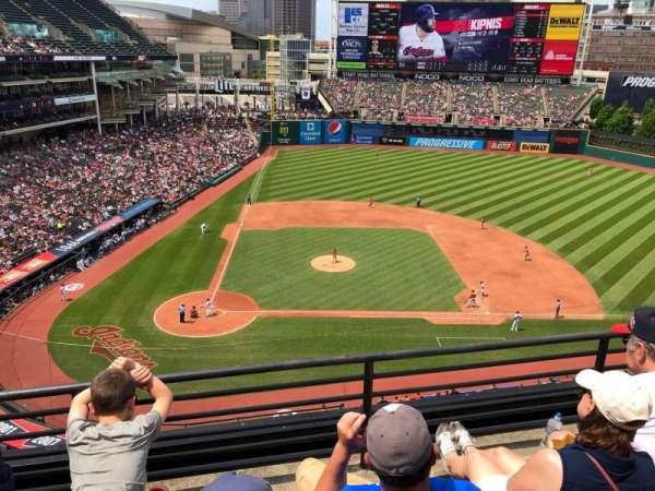 Progressive Field, sección: 448, fila: C, asiento: 11