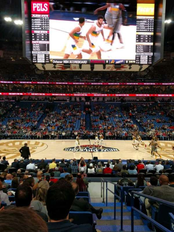 Smoothie King Center, sección: 113, fila: 14, asiento: 1