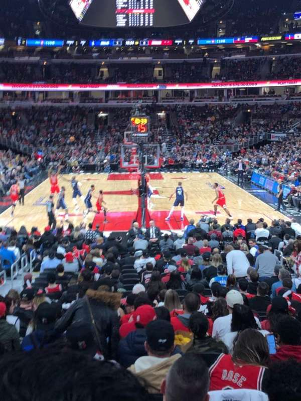 United Center, sección: 106, fila: 14, asiento: 7