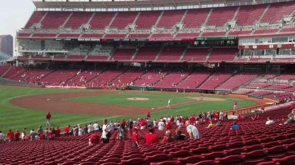 Great American Ball Park, sección: 111, fila: LL, asiento: 18
