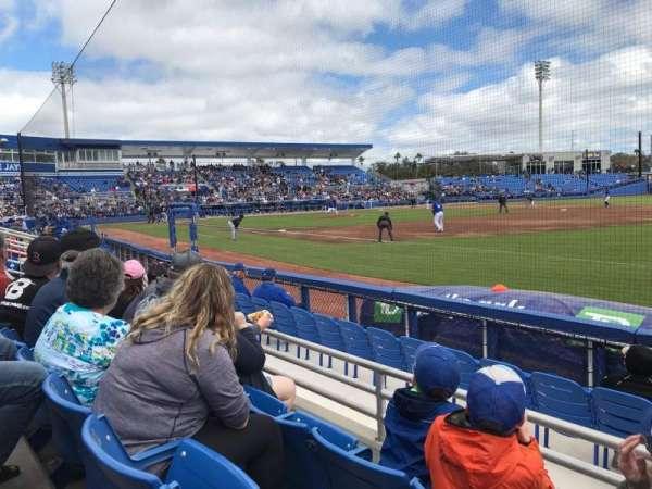 TD Ballpark, sección: 101, fila: 3, asiento: 7