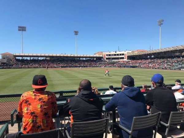 Ed Smith Stadium, sección: LF Pavillion 129, fila: 4, asiento: 16