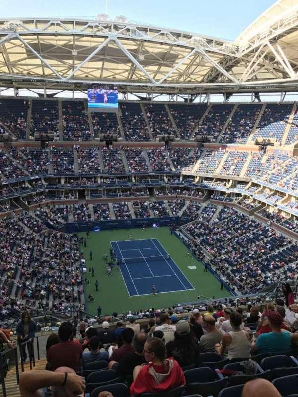 Arthur Ashe Stadium, sección: 340, fila: M, asiento: 18