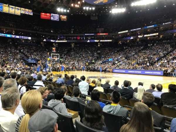 Oracle Arena, sección: 13, fila: A4, asiento: 7