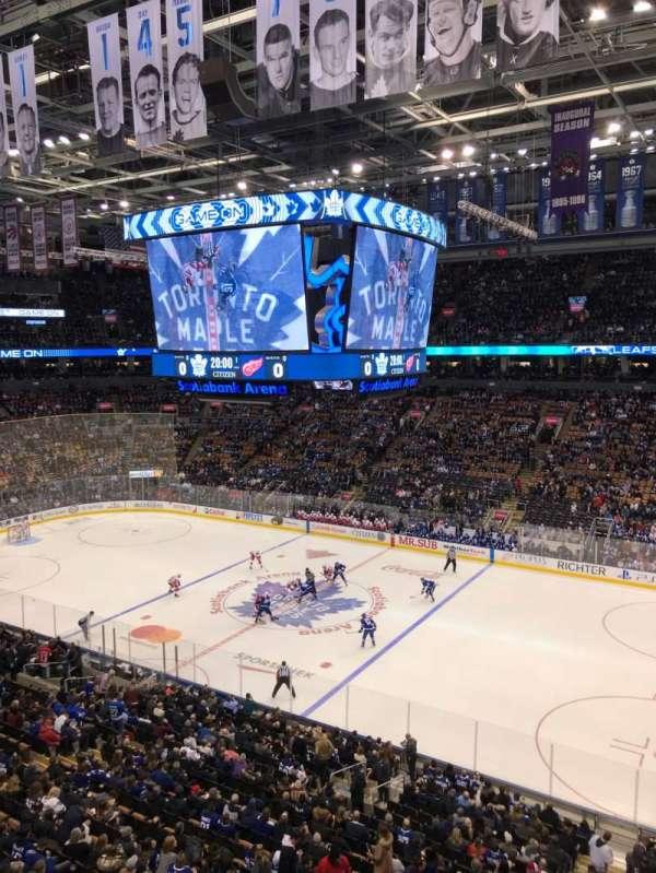 Scotiabank Arena, sección: 307, fila: 1, asiento: 16