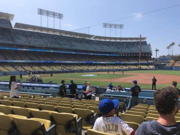 Dodger Stadium, sección: 28FD, fila: K, asiento: 2