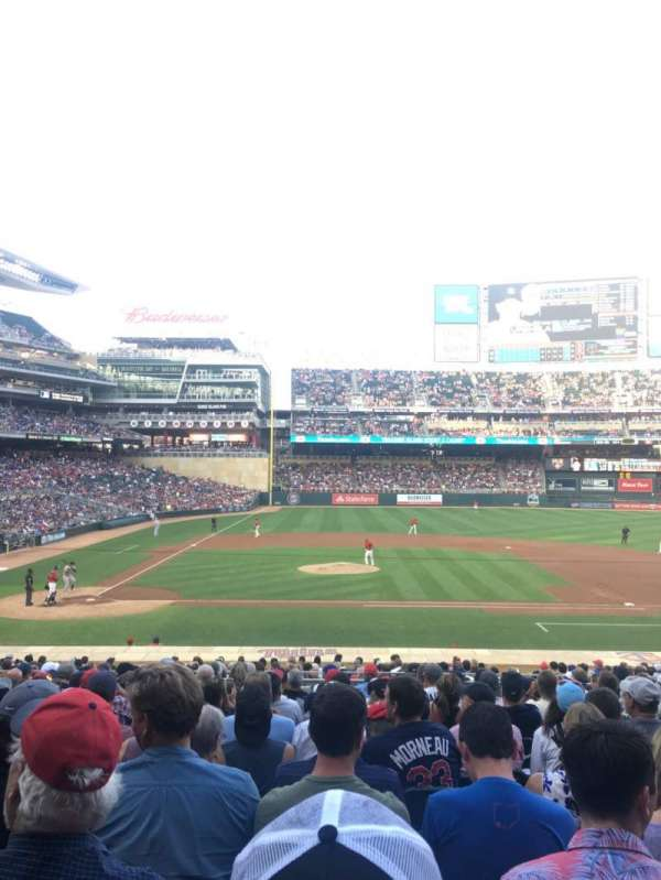 Target Field, sección: 109, fila: 13, asiento: 15