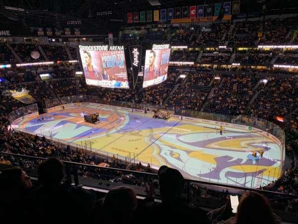 Bridgestone Arena, sección: 328, fila: C, asiento: 1