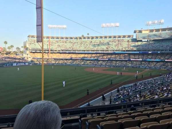 Dodger Stadium, sección: 163LG, fila: G, asiento: 1