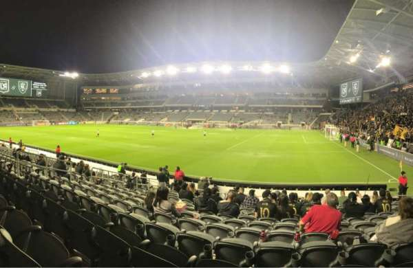Banc of California Stadium, sección: 109, fila: M, asiento: 20