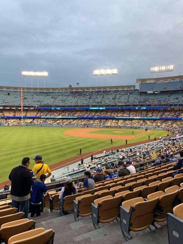 Dodger Stadium, sección: 161LG, fila: J, asiento: 2