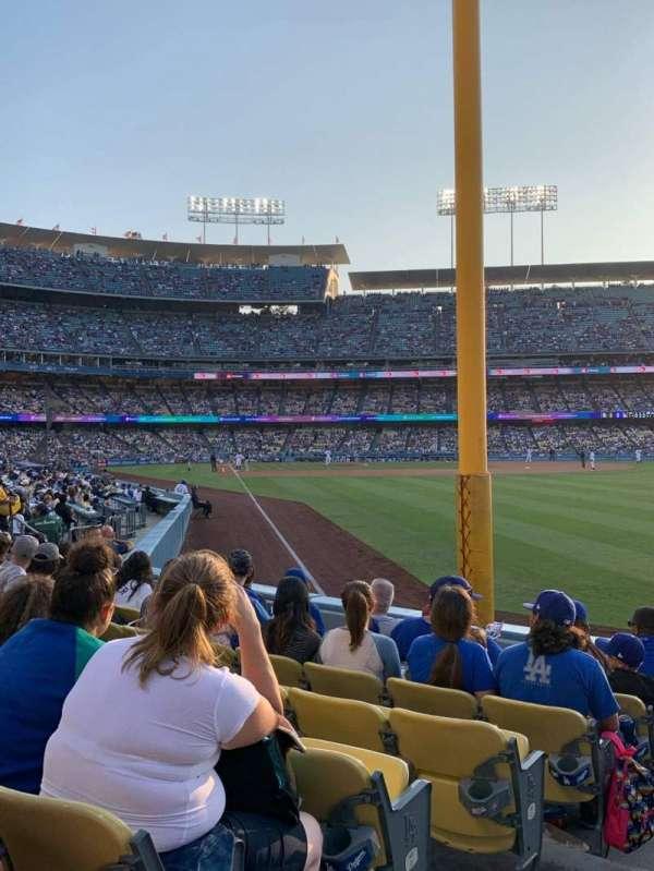 Dodger Stadium, sección: 50FD, fila: G, asiento: 1