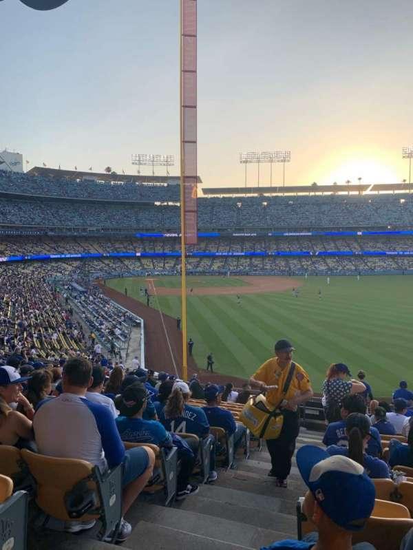 Dodger Stadium, sección: 168LG, fila: O, asiento: 1