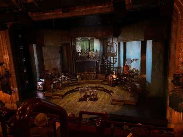 Walter Kerr Theatre, sección: Mezzanine R, fila: D, asiento: 2