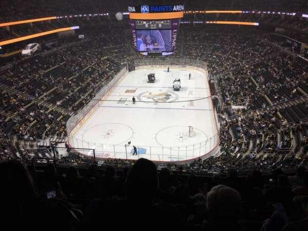 PPG Paints Arena, sección: 210, fila: H, asiento: 12