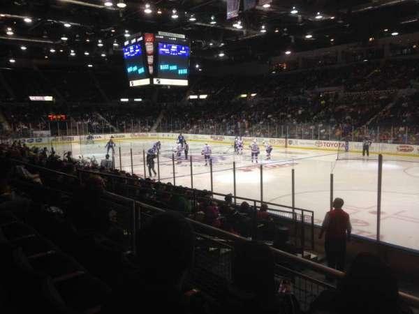Blue Cross Arena, sección: 127, fila: K, asiento: 1