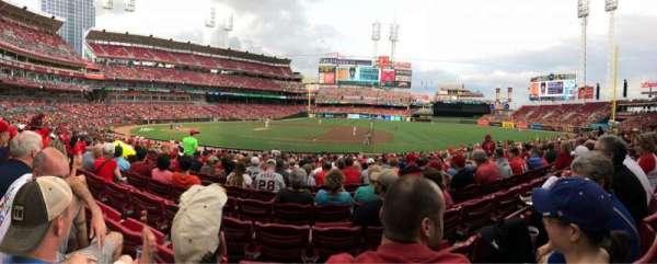 Great American Ball Park, sección: 131, fila: Z, asiento: 11