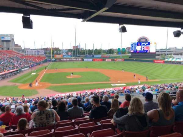 Sahlen Field, sección: 110, fila: NN, asiento: 7
