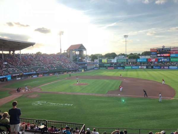 McCoy Stadium, sección: 1, fila: EE, asiento: 17