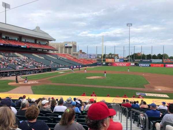 Sahlen Field, sección: 112, fila: R, asiento: 1