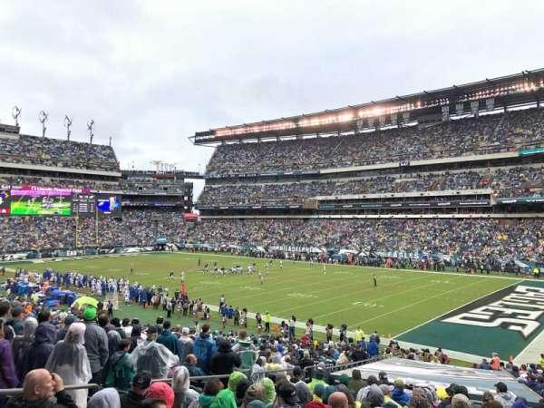 Lincoln Financial Field, sección: 125, fila: 33, asiento: 22