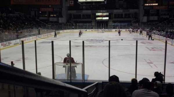 Blue Cross Arena, sección: 116, fila: L, asiento: 9