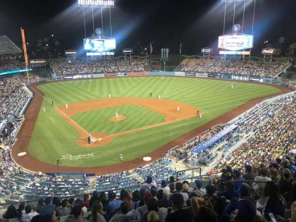 Dodger Stadium, sección: 4RS, fila: L, asiento: 11