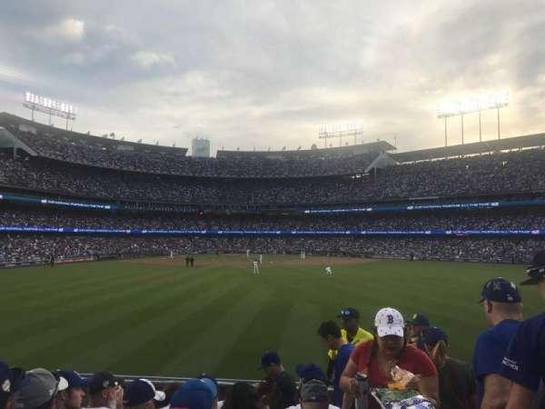 Dodger Stadium, sección: 312, fila: F, asiento: 18