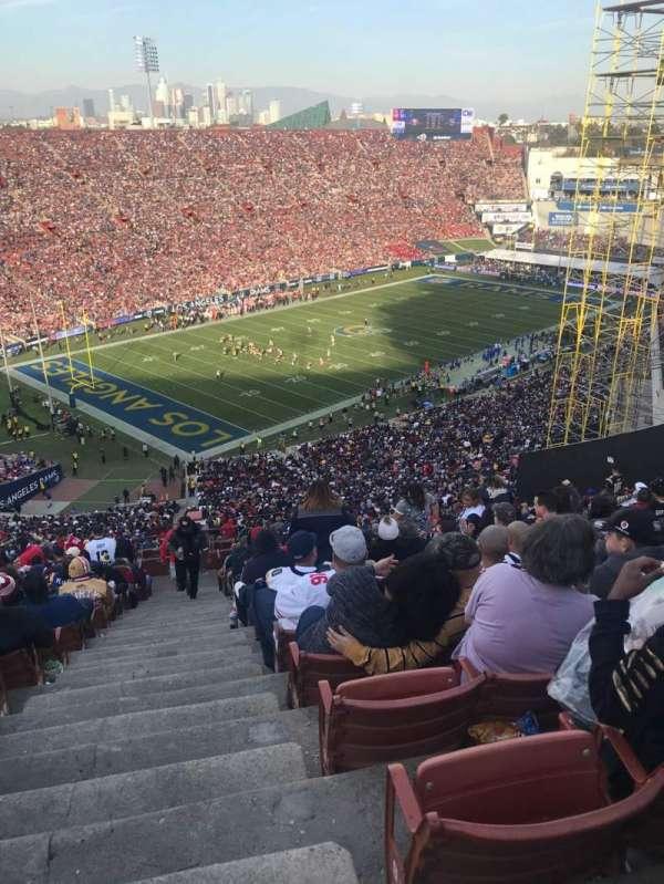 Los Angeles Memorial Coliseum, sección: 10L, fila: 93, asiento: 1