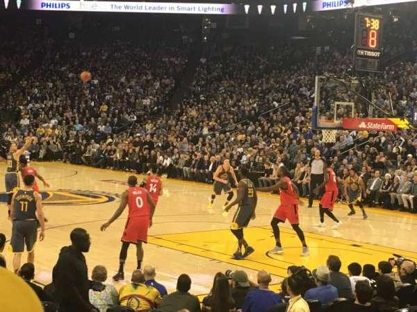 Oracle Arena, sección: 124, fila: 5, asiento: 9