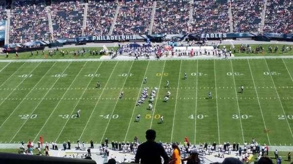 Lincoln Financial Field, sección: 202, fila: 26, asiento: 25