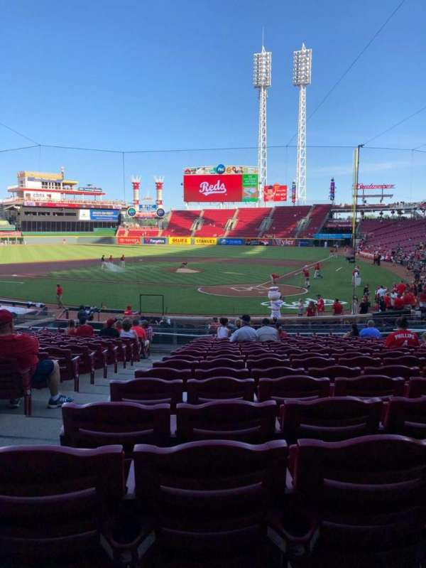 Great American Ball Park, sección: 121, fila: CV, asiento: 14
