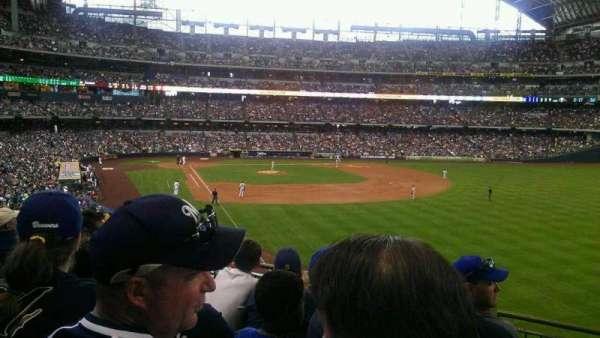 Miller Park, sección: 206, fila: 5, asiento: 9