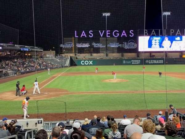 Las Vegas Ballpark, sección: 108, fila: Q, asiento: 2