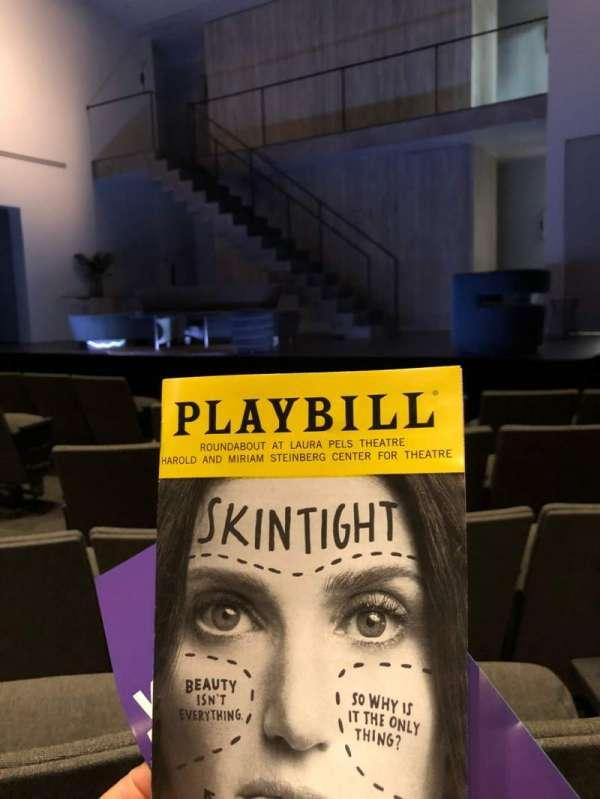 Laura Pels Theatre, sección: Orchestra, fila: G, asiento: 6