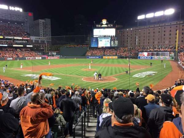 Oriole Park at Camden Yards, sección: 38, fila: 23