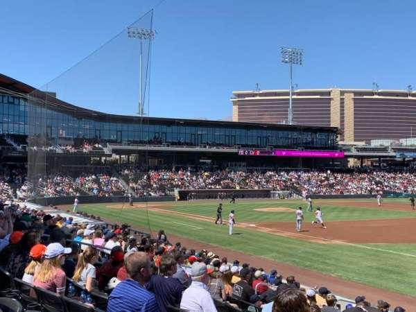Las Vegas Ballpark, sección: OFP104, fila: Q, asiento: 19,20