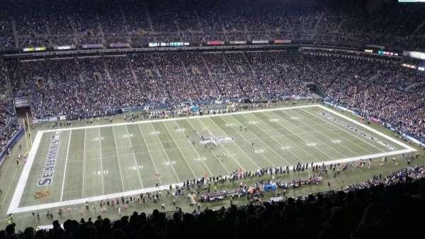 CenturyLink Field, sección: 338, fila: GG, asiento: 3