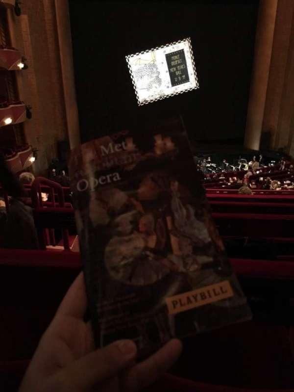 Metropolitan Opera House - Lincoln Center, sección: Grand Tier, fila: F, asiento: 126